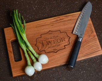 Cutting Board Personalized Cutting Board Laser Engraved 11x15 Monogram Cutting Board CB1115TAY