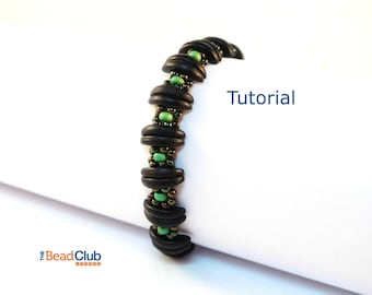 Crescent Bead Patterns - Beaded Bracelet Patterns - Beading Tutorials and Patterns - Jewelry Tutorial - Divided Daisy Bracelet