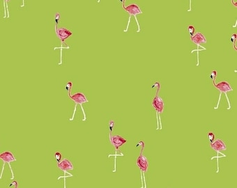 Flamingos - Flamingo Lime - Iza Pearl Design - Windham (42278-4)