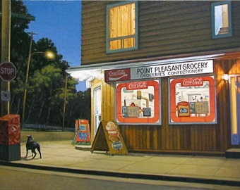 "Point Pleasant Grocery 7.5"" x 15"" Image on 11"" x 17"" paper- FREE SHIPPING Canada & US"