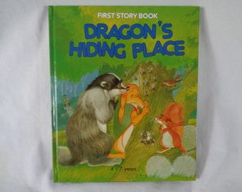 vintage 1990 First Story Book Dragon's Hiding Place book by Lucy Kincaid