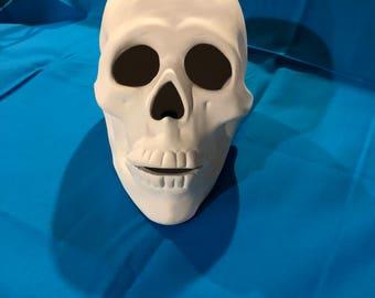 Ceramic Bisque Skull