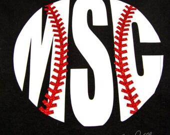 Monogram Baseball T-shirt