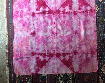 Shibori dye scarf