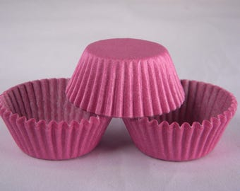 48 Mini Orchid Purple Greaseproof Paper Cupcake Liners Baking Cups Jenuine Crafts