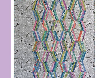 Chopsticks  quilt pattern by Eunsoo King for Sewing party