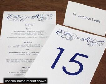 Emily Menu, Table Marker & Place Card Set