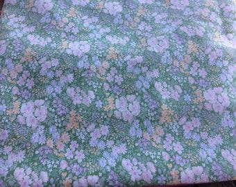 Vintage Green Ditsy Floral Duvet Cover, Vintage St Michael Duvet Cover,Vintage Fabric,Single Duvet