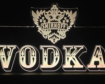 Smirnoff Vodka Remote Control LED Sign, Free Shipping, Personlised , Made In Australia