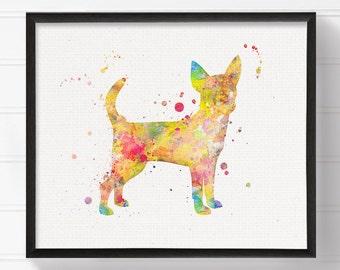 Chihuahua Art - Chihuahua Painting - Chihuahua Print - Watercolor Chihuahua - Dog Art Print - Dog Wall Art, Dog Wall Decor, Dog Lover Gift