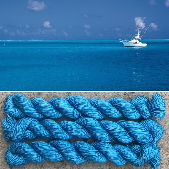 Plain Sailing 20g Miniskein, merino nylon blend sock yarn