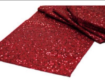 Red Sequin Table Runner   Stunning!