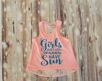 Girls Summer Top, Girls Top, Girls Summer, Summer Top, Girls Tank Top, Girls Lace Shirt, Girls Lace Top, Girls Shirts, Kids Tank Tops, Girls