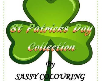 St Patricks Day colouring Collection. Instant download Ireland/Irish Patricks day coloring pages, Irish dancer, pot of gold, claddagh owl