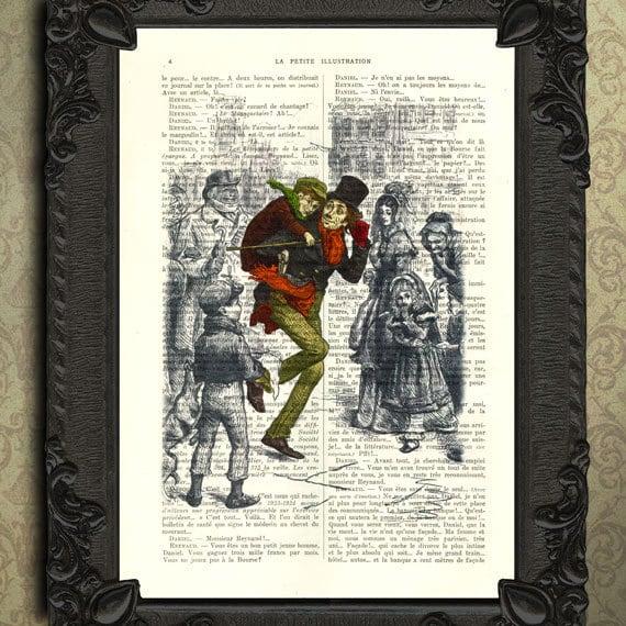 Scrooge Christmas Carol Coloring Pages Free: A Christmas Carol Print Tiny Tim Color Illustration Charles
