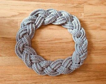 Scarf / plaited scarf / cowl / infinity scarf crochet