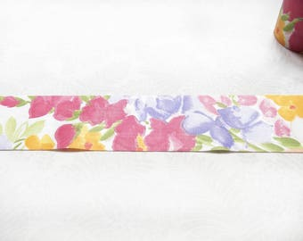 3 meters Colorful flowers bias tape 65 mm / High quality