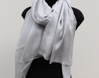 Silk Cashmere Scarf - Dove Grey