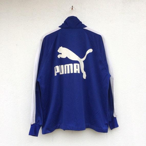 PUMA vintage 90s Puma halfzipper jumper pullover multicolour big logo size XL UtKJlY