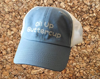 Oil Up Buttercup Snapback Mesh Hat