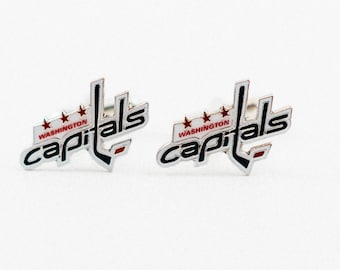 Washington Capitals Cuff Links -- FREE SHIPPING with USPS First Class Domestic Mail