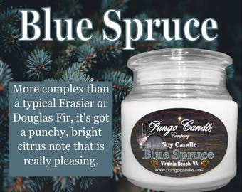 Blue Spruce! Scented Soy Jar Candle (16 oz.)