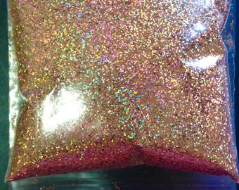 bronze holographic glitter, powder glitter, nail decor, diy indie nail polish, solvent resistant, 0.4mm glitter, nail art supplies, holo