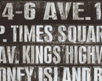 Coats & Clark - Eclectic Elements by Tim Holtz - Subway Signs - Taupe - Fabric by the Yard PWTH005-TAUP
