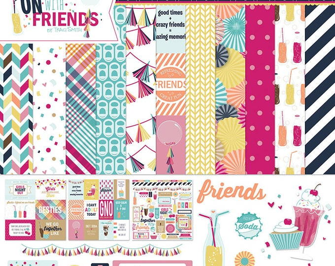 Photo Play FUN WITH FRIENDS 12x12 Scrapbook Paper Collection Kit - FF2305
