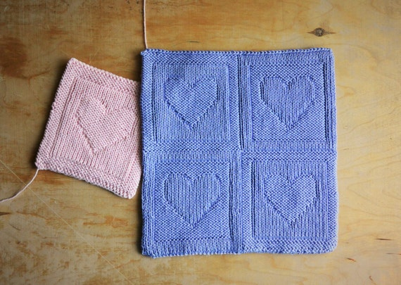 Two Sided Knitting Pattern Heart Pdf Instant Download Easy