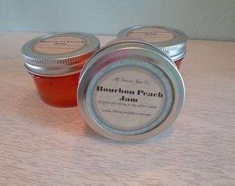 Bourbon Peach Jam   4oz mason jars. Gift Baskets, Holiday giving, wedding favors