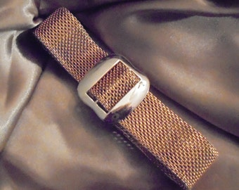 Vintage Sarah Coventry Gold Tone Mesh Belt