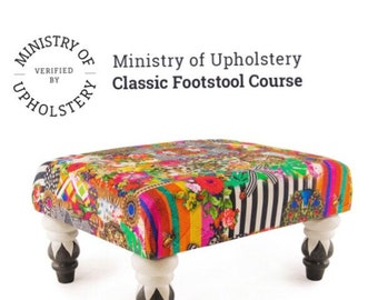Ministry of Upholstery Classic Footstool Workshop