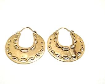 Moon Bite Hoops- Brass Hoops- Gypsy Jewelry- Hoop Earrings