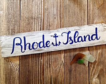Rhode Island Reclaimed Wooden Sign, nautical sign