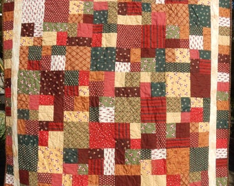 Christmas Quilt with vintage era fabric