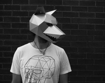 Wolf Mask - Make your own with this simple PDF Download