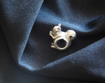 Sterling Silver Squirrel Bead
