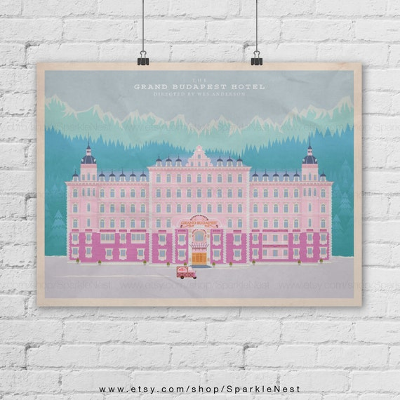 The Grand Budapest Hotel Art Print. Wes Anderson Films Poster. Pop Art Print. Pop Culture And Modern Home Decor Poster. Item No. 286 by Etsy