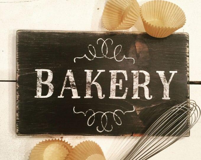 Bakery Sign For Kitchen. Custom Bakery Sign. New Home Gift. Farmhouse Kitchen Decor. Rustic Kitchen Art. Bakery Art. Wedding Gift. Bridal