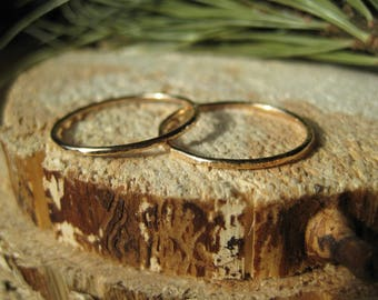 14k Gold Filled Hammered Texture Stacking Ring