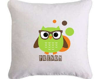 OWL pillow glasses personalized with name