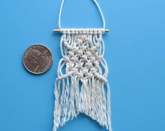 Miniature Macrame Dollhouse Wall Hanging