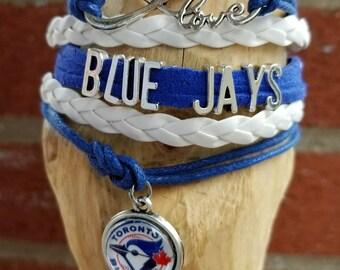 Infinity Love Blue Jays bracelet