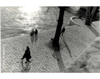 Paris Quai de Seine reflection fine art format 18 x 24 cm