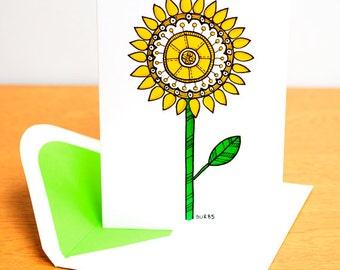 Blank Card - Yellow Flower