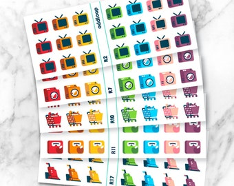 Rainbow Icon Planner Stickers Bundle, 5 sheets of YOUR CHOICE! - For use with Erin Condren, Kikki K, Personal Planner, Happy Planner