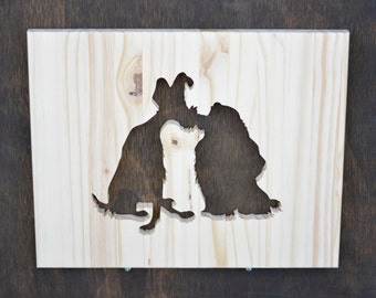 Lady and the Tramp Wood Silhouette Disney Cutout