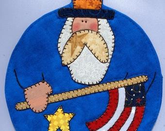 4th of July Uncle Sam Mug Rug 2