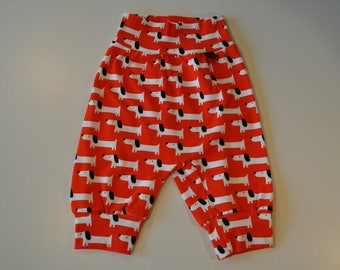 My little harem pants size 3-6 months in organic cotton